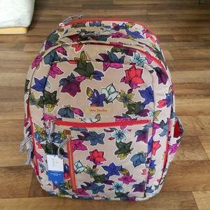 Vera Bradley Grand Backpack Falling Flowers
